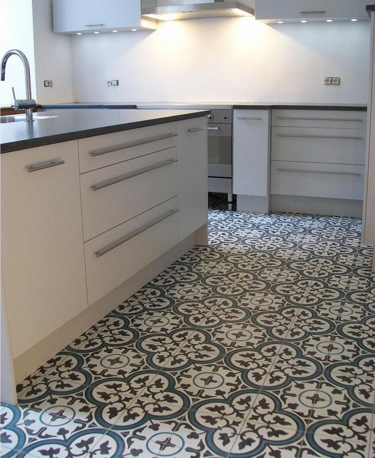 Idee für Bodenfliesen in der Küche – Cerames – Mexikanische ...